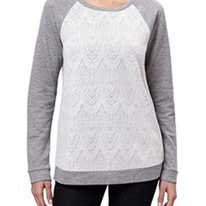 Adrienne Vittadini, grey sweater, size medium.